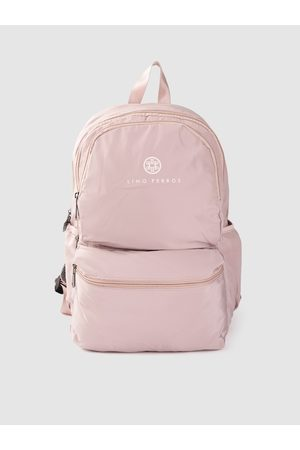 Lino Perros Women Dusty Pink Solid 13 Inch Laptop Backpack
