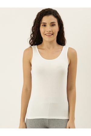 Amante Women White Solid Non-Padded Camisole