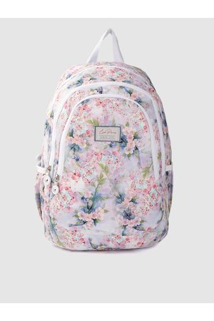 Lino Perros Women Purple & Pink Floral Print 13 Inch Laptop Backpack