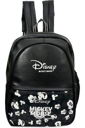 Kuber Industries Unisex Kids Black & White Printed Leather Backpack