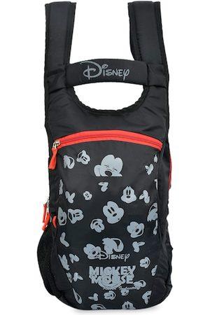 Kuber Industries Unisex Kids Black & Grey Mickey Mouse Printed Backpack