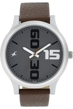Fastrack Men Grey Analogue Watch 38051SL05