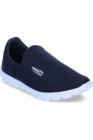 Liberty Men Navy Blue Mesh Walking Shoes
