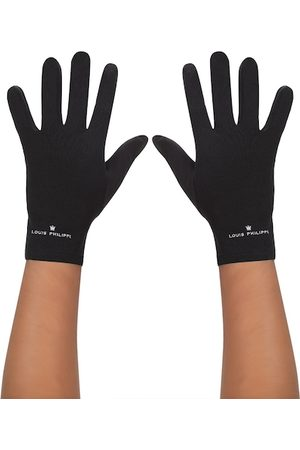 Louis Philippe Men Gloves - Men Black Solid Gloves