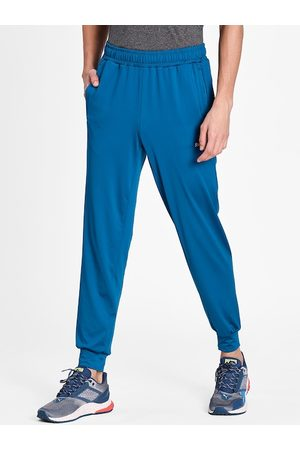 PUMA Men Blue Solid Straight-Fit Joggers