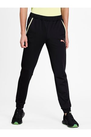 PUMA Men Black Solid RTG Knit Drycell Slim Fit Joggers