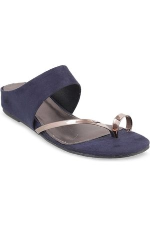 All Things Mochi Women Navy Blue Solid Heels
