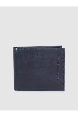 adidas Men Navy Blue Genuine Leather Two Fold Wallet