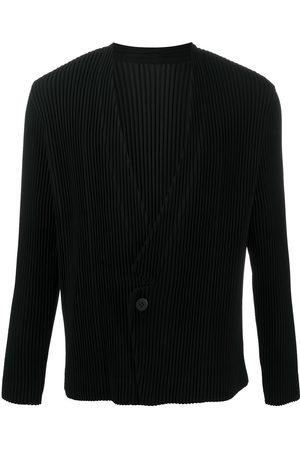 HOMME PLISSÉ ISSEY MIYAKE Ribbed v-neck jacket