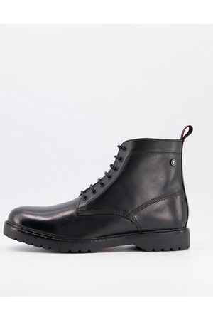 Base London Forge lace up boot in waxy leather