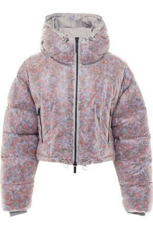 McQ Foam Transparent Crop Puffer Jacket