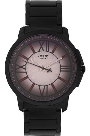 Helix Men Brown Analogue Watch TW027HG30