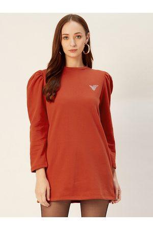 Sera Women Rust Solid Sweatshirt