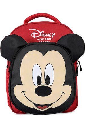 Kuber Industries Unisex Kids Red & Black Graphic Backpack