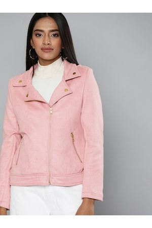 Chemistry Women Pink Solid Tailored Jacket