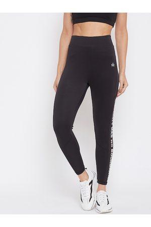 Crimsoune Club Women Black Skinny Fit Solid Regular Trousers