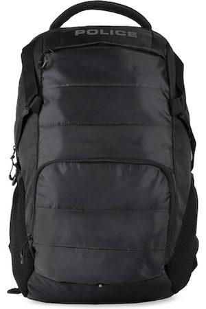 Police Men Black Solid Premium Quality Lightweight Backpack