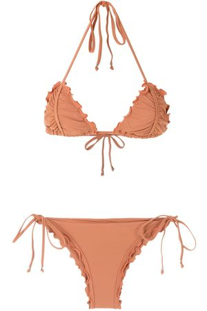 AMIR SLAMA Ripple effect bikini set