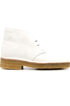 Clarks Suede lace-up ankle boots