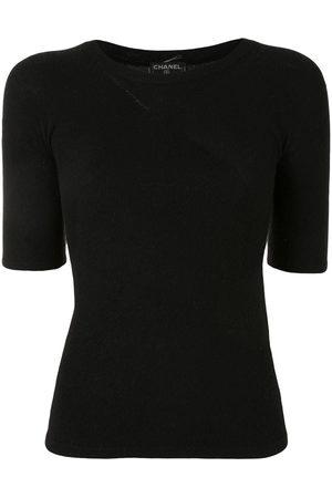 CHANEL Women Short Sleeve - 2002 fluffy-knit T-shirt