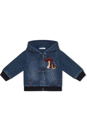 Dolce & Gabbana Embroidered denim hoodie