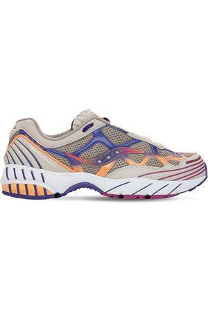 Saucony Men Sneakers - White Mountaineering Grid Web Sneakers