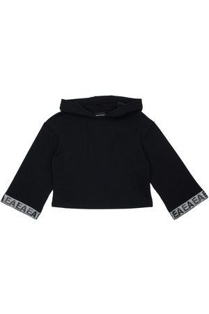 Emporio Armani Girls Sweatshirts - Cotton Sweatshirt Hoodie
