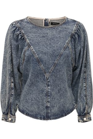 Isabel Marant Ulinae Bleached Cotton Denim Top