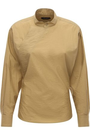 Isabel Marant Tegan Cotton Blend Poplin Top