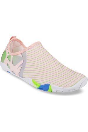 All Things Mochi Women Peach-Coloured Printed Slip-On Sneakers