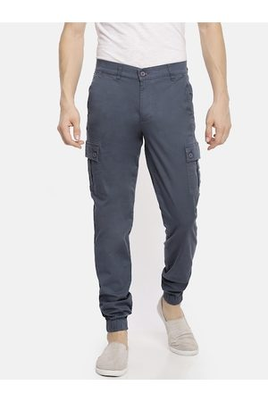 The Indian Garage Co Men Grey Slim Fit Solid Joggers