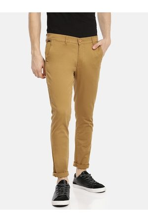 The Indian Garage Co Men Khaki Slim Fit Solid Chinos