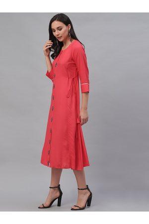 GERUA Women Pink Solid A-Line Dress