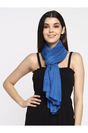 Aditi Wasan Women Blue Woven Design Stole