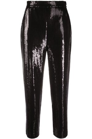 Karl Lagerfeld Cropped sequin trousers