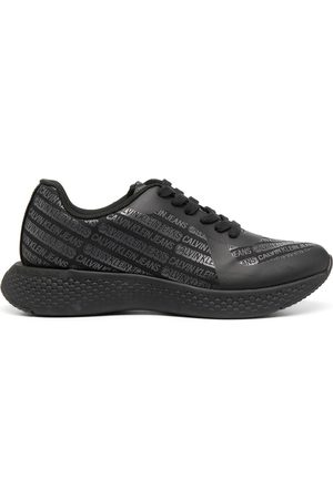 Calvin Klein Men Sneakers - Logo-print low-top trainers