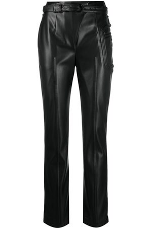COPERNI Mid-rise leather-effect trousers