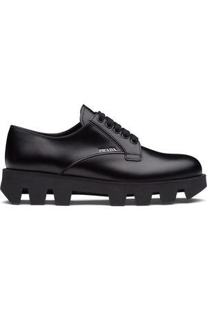 Prada Brushed leather Derby shoes
