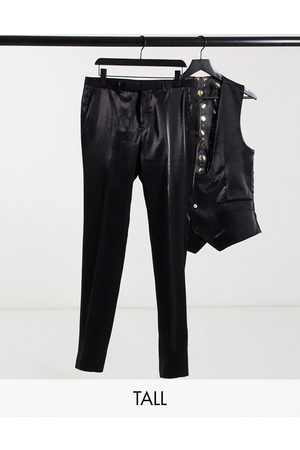 Twisted Tailor TALL suit trousers in high shine