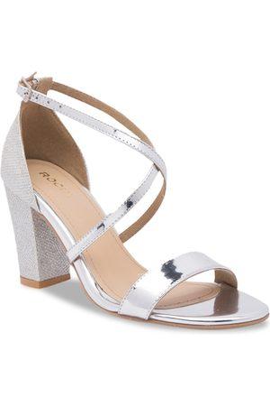 Rocia Women Silver-Toned Solid Block Heels