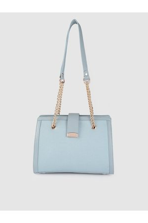 Lino Perros Blue Solid Shoulder Bag