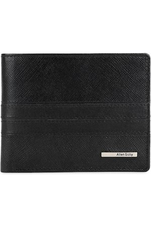Allen Solly Men Black Solid Leather Two Fold Wallet