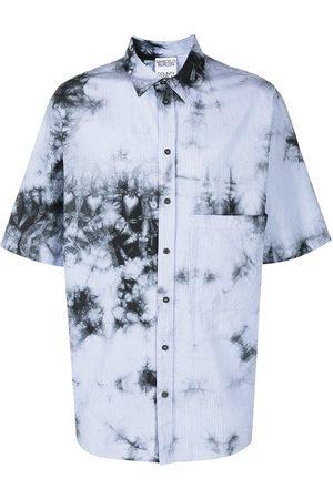 MARCELO BURLON Men Short Sleeve - Tie-dye striped overshirt