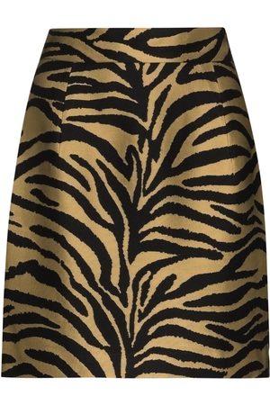 Khaite Eiko zebra print mini skirt
