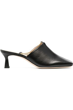 Wandler Square-toe leather mules