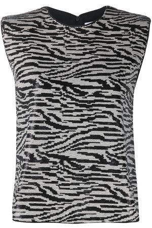 Self-Portrait Zebra-print sleeveless top