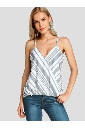 YOINS Multi Wrap Design Stripe V-neck Sleeveless Cami