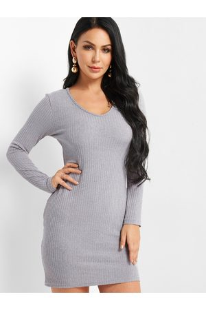 YOINS Plain Sweater Pencil Dress