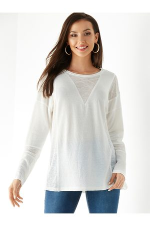 YOINS Round Neck Patch Long Sleeves Tee