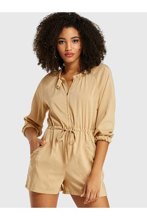 YOINS Side Pockets Long Sleeves Playsuit